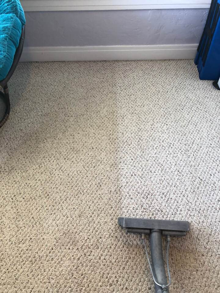 Before and After Carpet Cleaning Bedroom in Phoenix