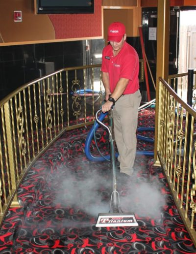 During Job - Commercial Carpet Cleaning