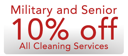 Military Senior Discount for Carpet Upholstery Tile and Grout or House Cleaning Service