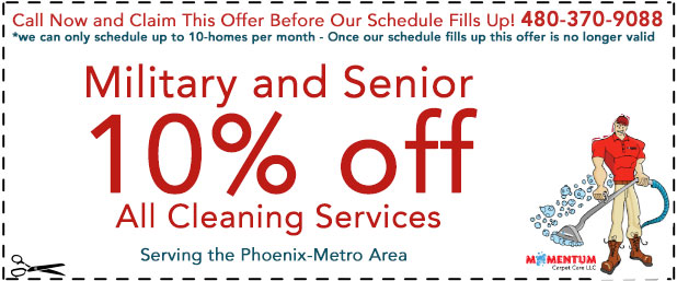 Military and Senior Carpet Cleaning Special