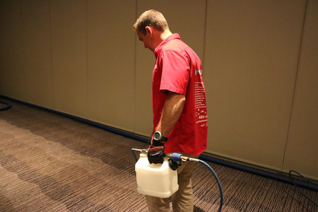 Pre-Treatment of Commercial Carpet Cleaning