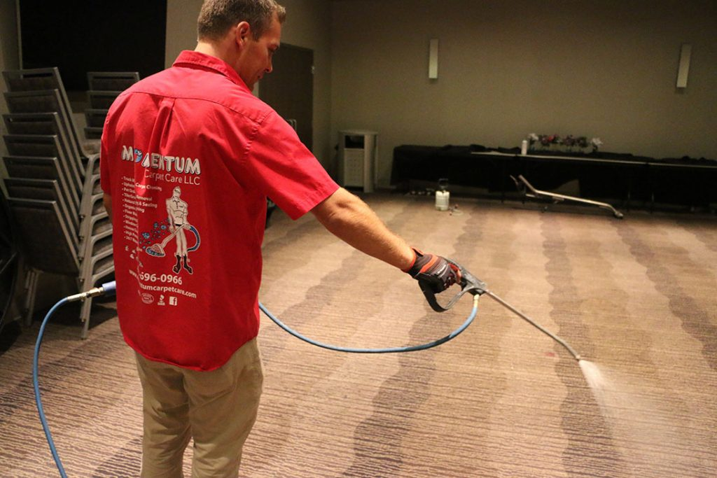 Pre-Treatment for Commercial Carpet Cleaning