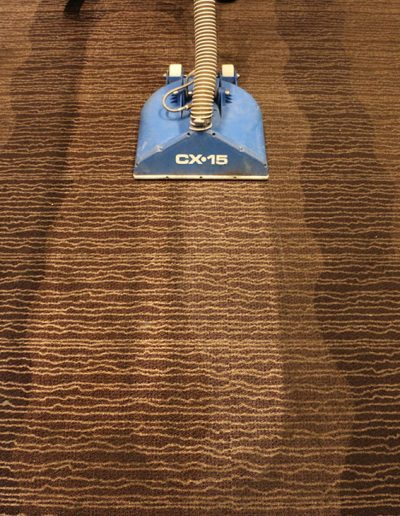 Before and After - Main Event Commercial Carpet Cleaning Job