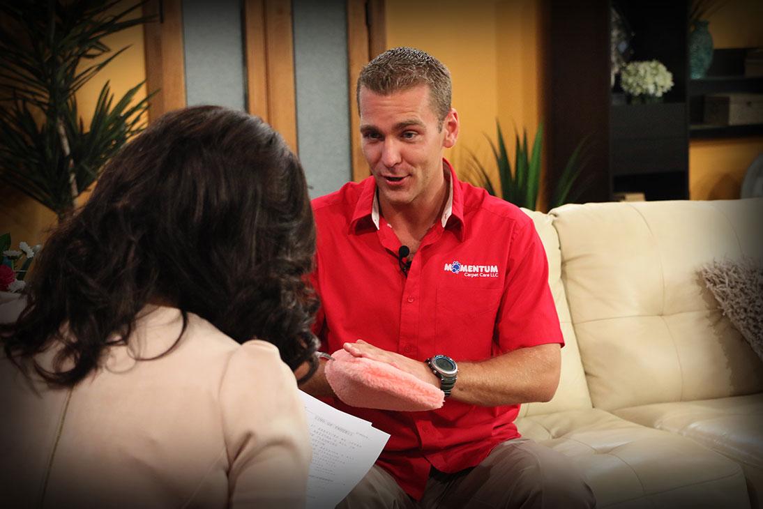Kamil Tuma with Susan Casper of Sonoran Living TV