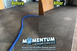 Before and After - Pilgrim Rest Baptist Church Commercial Cleaning Job