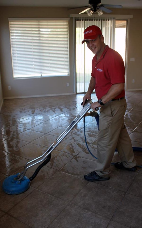 Kamil at Tile and Grout Cleaning Job