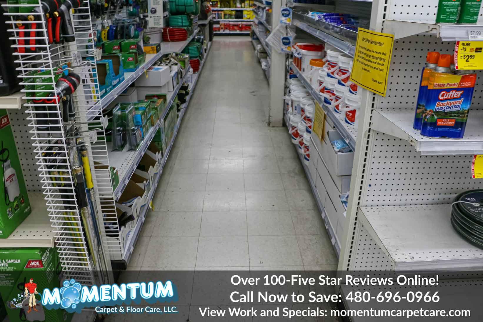 Cleaning Floors for Karstens Ace Hardware